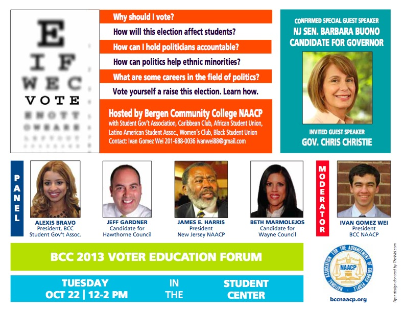 2013 BCC NAACP Voter Education flyer