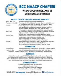 BCC NAACP Accomplishments Flier