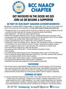 BCC NAACP accomplishments